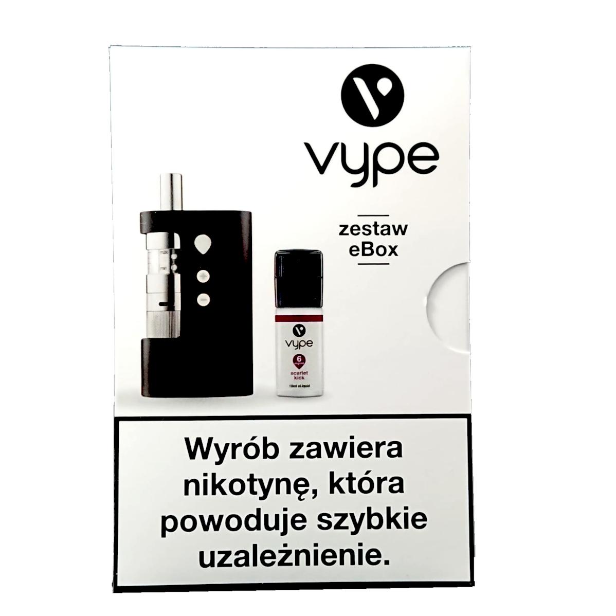Papierosy Elektroniczne - Vype eBox Starter Kit + Scarlet Kick 6mg/ml TPD
