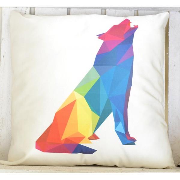 Poduszka Kolorowy wilk