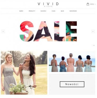 Sprzedaż sklepu internetowego (odzież)