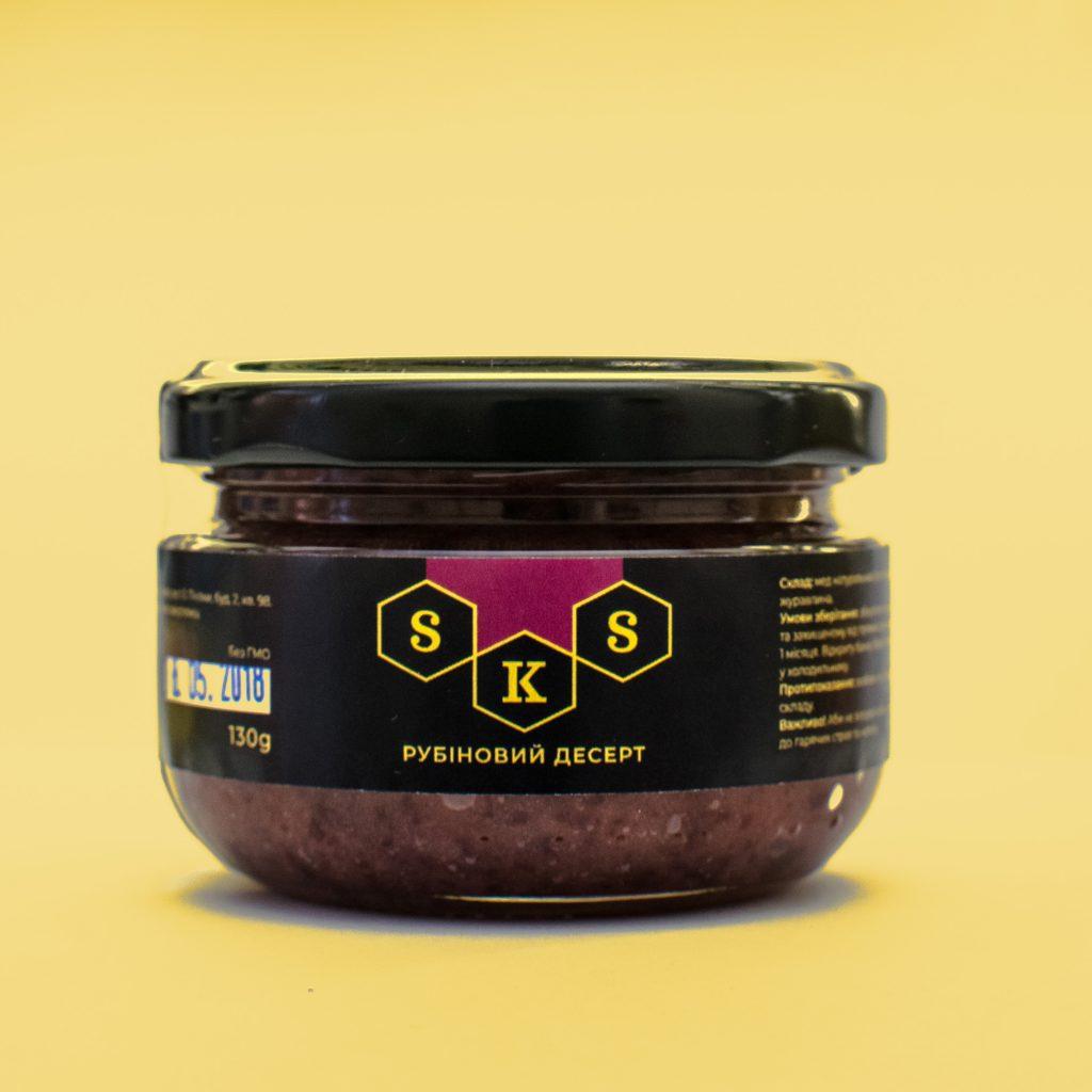 Deser miodowy: deser rubinowy. Objętość 130 gramów i 230 gramów