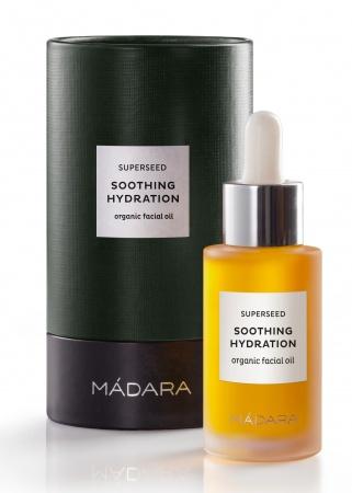 MÁDARA Superseed Organiczny olej do twarzy Kojące Nawilżenie, 30 ml