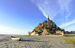 Uitzicht over Mont Saint Michel