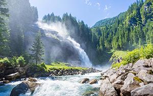 Adembenemende Krimmler-watervallen