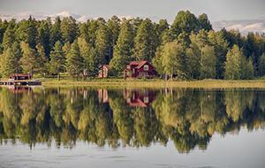 Meren en bossen in Noord-Zweden