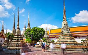 De indrukwekkende tempel Wat Pho