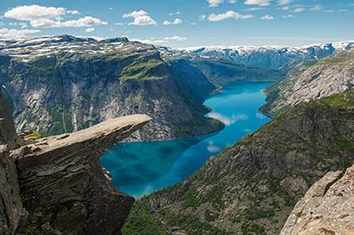 De schoonheid van de fjorden