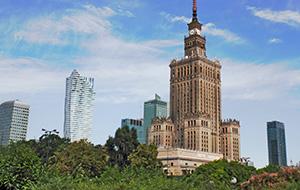 De groene stad Warschau