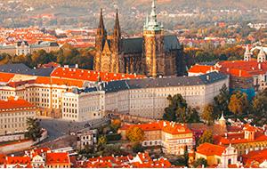 De torens van de Praagse Burcht