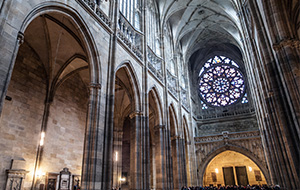 De bouw van de St. Vitus-kathedraal