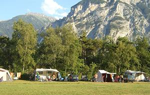 Camping Du Monument ligt lekker centraal