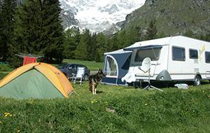 Een prachtig uitzicht bij Camping Les Glaciers