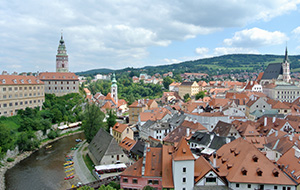 Het prachtige oude centrum van Ceský Krumlov