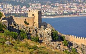 Prachtig uitzicht vanaf het kasteel van Alanya