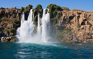 De watervallen van Duden