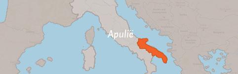 Kaart van Apulië