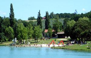 Zwemmen in het meer van Lougratte