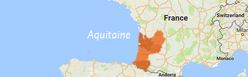Kaart van Aquitaine