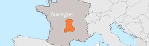 Kaart van Auvergne