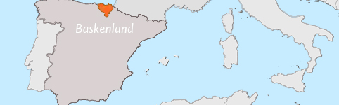 Kaart van Baskenland