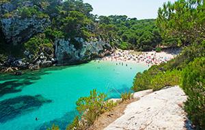 Kleine strand: Cala Macarelleta