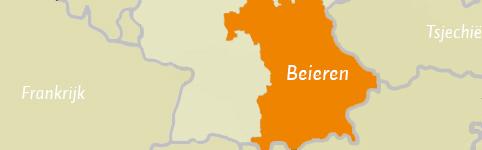 Kaart van Beieren