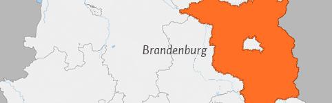 Kaart van Brandenburg