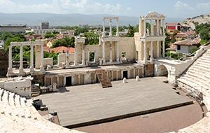 Het oude Plovdiv Theater