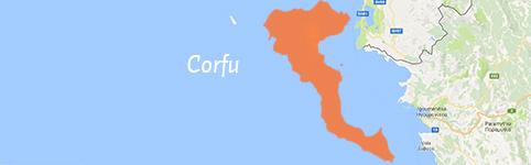 Kaart van Corfu