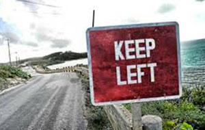 Links rijden in Ierland