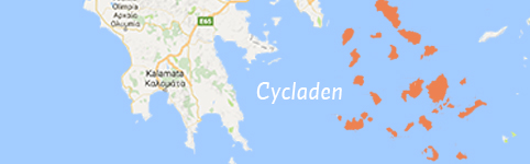 Kaart van Cycladen