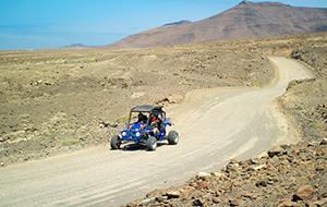 Buggy racen over Fuerteventura