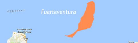 Kaart van Fuerteventura