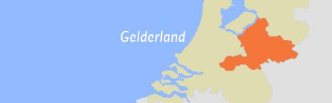 Kaart van Gelderland