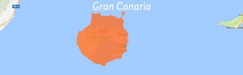 Kaart van Gran Canaria