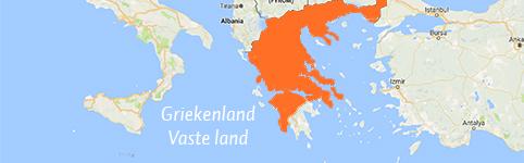 Kaart van Griekenland Vaste land
