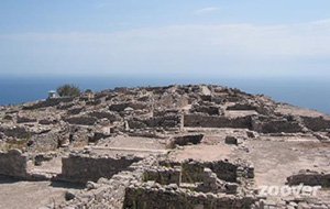 Ruïnes op Santorini