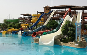 35 glijbanen bij Hotel Jungle Aqua Park