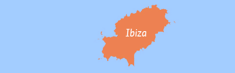 Kaart van Ibiza
