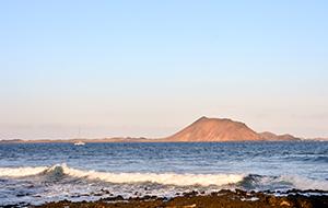 Op het onbewoonde eiland Isla de los Lobos op Fuerteventura