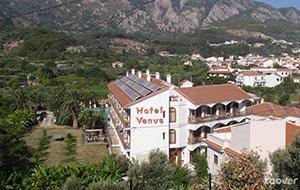 Hotel Venus kijkt uit over natuur