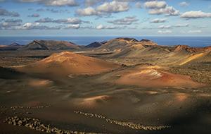 Maanlandschappen in Timanfaya National Park