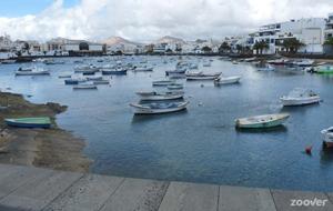 De hoofdstad Arrecife