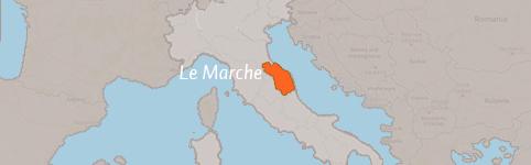 Kaart van Le Marche (de Marken)