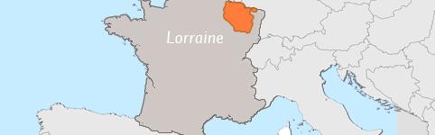 Kaart van Lorraine