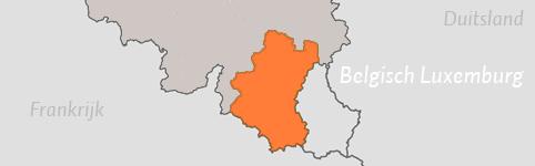 Kaart van Luxemburg (België)