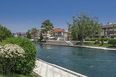 De rustige plaats Struga