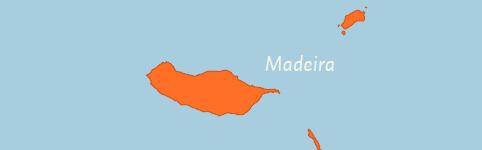 Kaart van Madeira