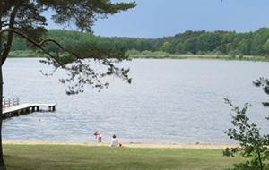 Direct aan het meer: camping am Blanksee