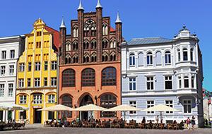 Aan de overkant van Rügen: Stralsund