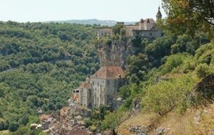 Panoramazicht bij Rocamadour-Lot